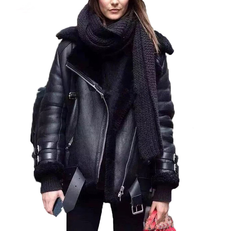 Online Get Cheap Leather Fur Jacket -Aliexpress.com   Alibaba Group