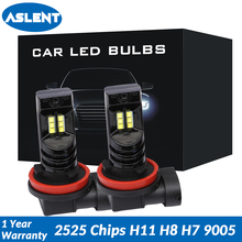 ASLENT 2pcs Fog Light LED Bulbs H11 H8 H9 H7 H4 HB3 HB4 9005 9006 Auto lights Accessories Car Driving DRL Lamp 6500k White 12V 2pcs h1 h3 h4 h7 h8 h11 h10 5202 9005 hb3 9006 hb4 led bulbs auto fog lights csp chip daytime running driving light 6500k white
