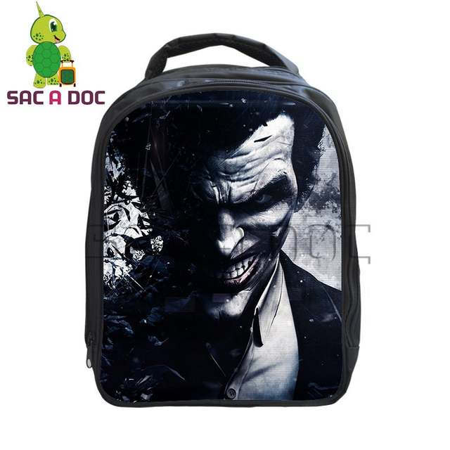 12080e40d4bc placeholder Cool The Dark Knight Crazy Joker Backpack School Bag Daily  Backpack Kids Boys Girls Primary Kindergarten
