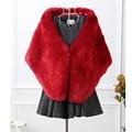 Жилет норковая шуба новый 2016 зимнее пальто шаль женщины всего лисицы искусственного жилет высокого класса пальто размер женщин : S-XXXL