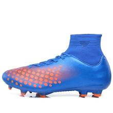 Men's futzalki football shoes sneakers indoor turf superfly futsal 2017 original football boots ankle high soccer boots cleats(China)