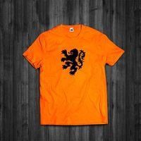 Camisa de t holanda clássico leão holanda retro holandês rugby amsterdam soccer men 2019 verão masculino o pescoço t camisas Camisetas    -
