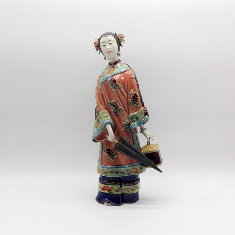 Mode ange Statue Marvel collection chinoise femelle Antique Sculptures Vintage Figurine décor à la maison poupée artisanat offre spéciale