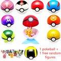 Venda quente 7 CM Figuras Toy Kids Pikachu Pokeball Com Ranom Ir bolas de Super Jogo Jogando Bola Anime Melhor Presente Brinquedos para Crianças