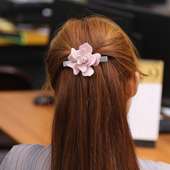 Women Hair Accessories Camellia Flower Hair Clip For Women 1