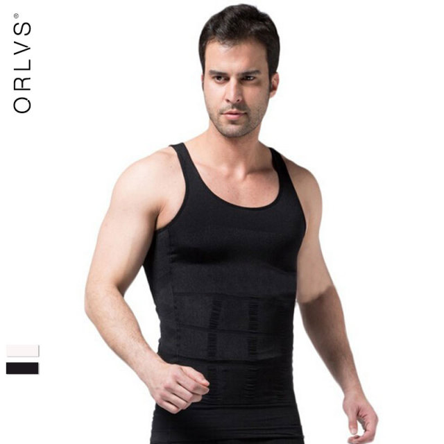Shapers Slimming T-shirt Neoprene Shaper Men Slimming Vest Body Shaper Corset Waist Trainer Belt Super Stretch Shapewear Hot S01