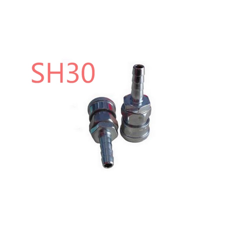 3Pcs  SH30 Stem Quick coupling with a 10mm hose barb Quick Coupler Quick Coupling Pneumatic Parts Fitting  pt coupling bfh series aluminum cam and groove hose fitting coupler with buna n cam gasket brass hb cam arms coupler x female fire hose nh