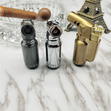 Metal Electronic Lighter  Butane Mini Turbo gas Cigar Cigarettes Lighters Smoking Accessories