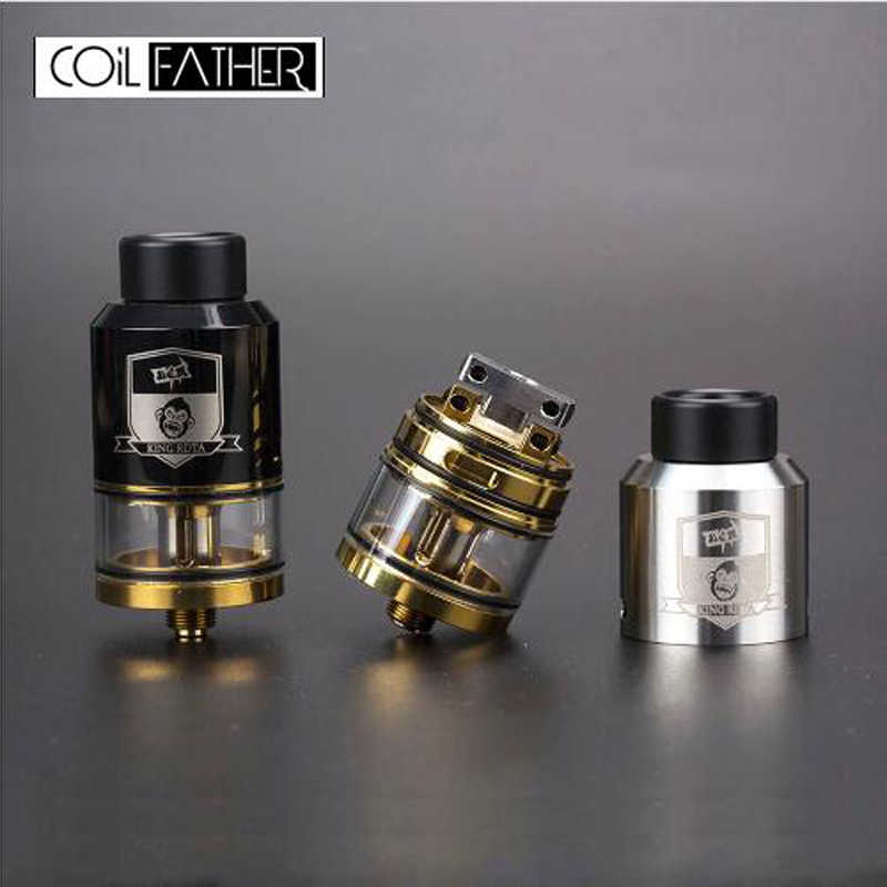 Coil Father King Style RTA RDA RDTA 3.5ml Capacity 25mm Diameter Tank For Vape Box Mod Electronic Cigarette RDTA Atomizer