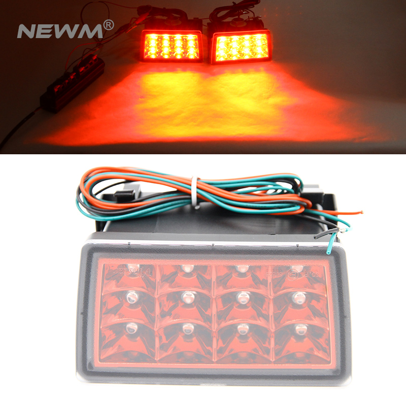Red/Clear Lens F1 Style LED Rear Strobe Flasher 3rd Brake Light Lamp F1 Style Rear Fog Lights For WRX STI XV newest flash strobe controller gs 100a flasher module for led brake stop light lamp 9 30v wholesales