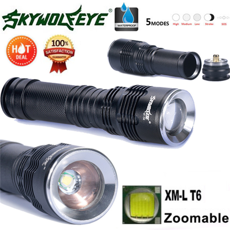 Newest XML T6 LED Zoomable 5 Modes Police Tactical Flashlight 26650/18650/AAA Torch wholesales 2017 NOM19 sitemap 27 xml