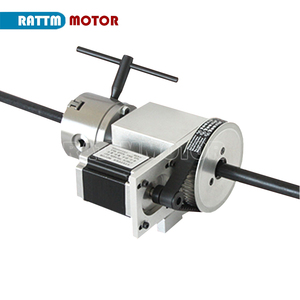 Image 2 - 3 jaw chuck 4th Axis K11 80mm CNC dividing head / Rotation Axis & Tailstock for Mini CNC router engraving