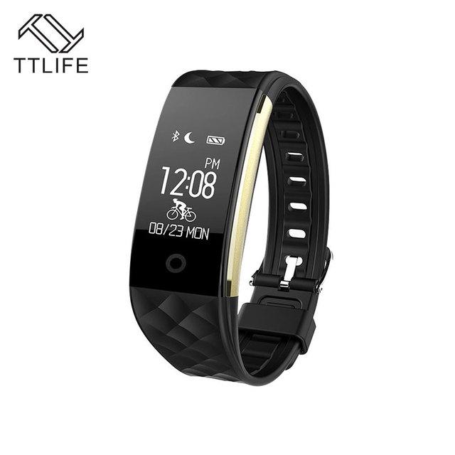 Ttlife s2 banda inteligente pulseira pulseira smartband ip67 à prova d' água de freqüência cardíaca do bluetooth para o iphone 7 xiaomi huawei smartphones