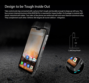 """Image 3 - Blackview BV9700 Pro IP68/IP69K Rugged Mobile Helio P70 Octa core 6GB RAM 128GB ROM 5.84"""" IPS Android 9.0 Smartphone 4G Face ID"""