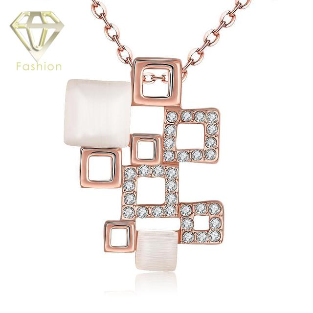 Fashion Jewelry Australian CZ Crystal Zircon Rose Gold Color Trendy