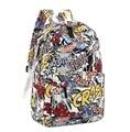 Fashion Women Graffiti Backpacks 2016 New Summer Cartoon Printing Stduents Backpack School Bag Mochila Unisex Travel Backpack