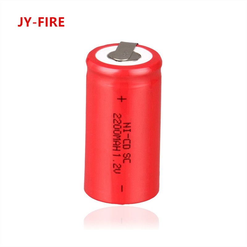 10 pcs High quality battery rechargeable battery sub c battery SC battery replacement 1.2 v with tab 2200 mah ...