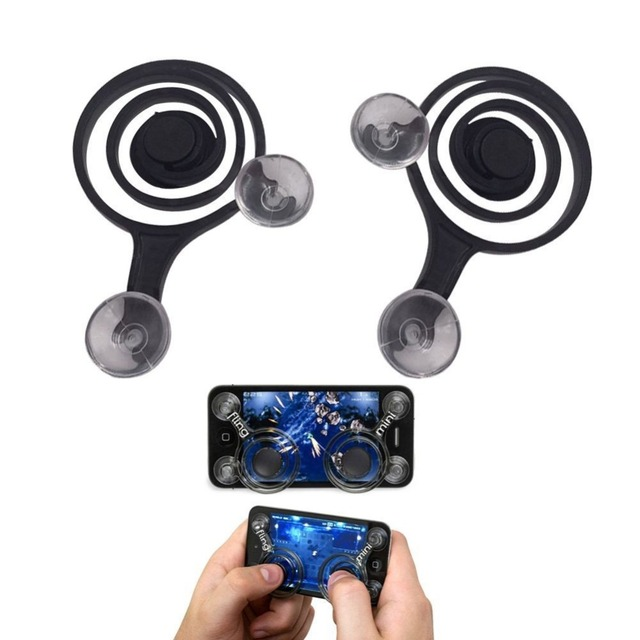 2 Pcs Game Joystick Mobile Phone Game Mini Rocker Touch Screen Joypad Tablet Funny Game Controller For Phone Tablet Ipad Gaming