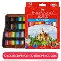 Цветной карандаш с сумкой профессиональный художник живопись масляная цветная ручка с сумкой для рисования эскиз школьные принадлежности