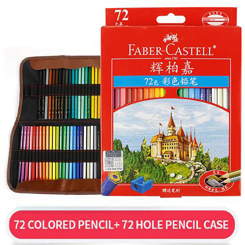 Colored Pencil with Bag Professional Artist Painting Oil Color Pen with Bag For Drawing Sketch School Supplies image