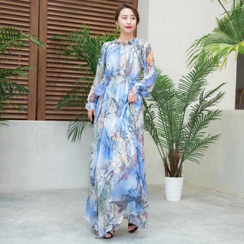 b9f4d17c82f0 ... Guest Sundress Plus Size Boho. US  33.30. Fashion Runway Summer Long  Sleeve Maxi Dress Women s Belted Waist Floral Print Elegant Party Holiday  Long