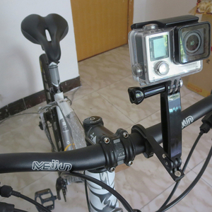 Image 5 - Bike Handlebar Mount Bicycle Motorcycle CNC Aluminum Holder for Gopro Hero 7 6 5 4 3 Yi 4K Sjcam Sj4000 for Go Pro Accessory