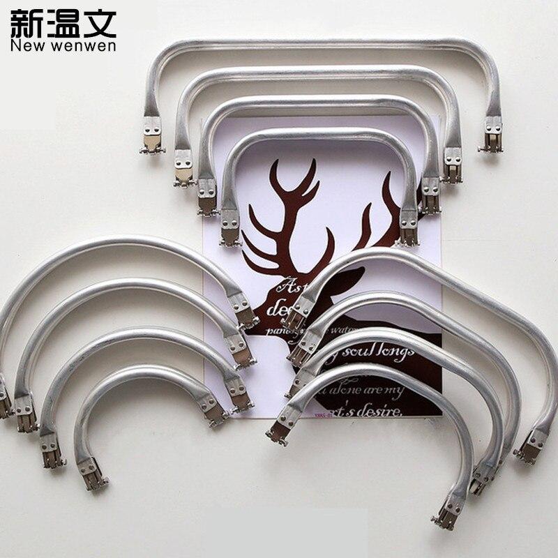 Quadrado de Alumínio Arco Semicircular Metal Fecho Moeda Bolsa Costura Quadro Beijo Alça Acessórios Faça Você Mesmo Kj015