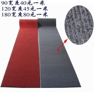 Pvc leather sole compound double stripe velvet mats doormat corridor carpet stair mats croppings
