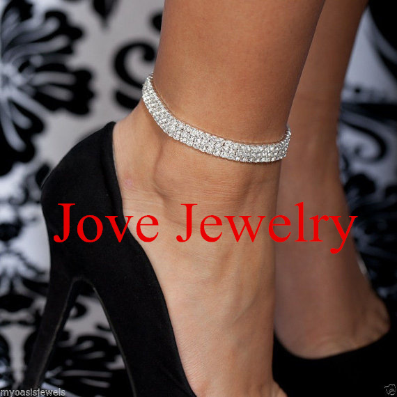 Charm Silver Plated Jewelry For Women Trendy Bead Anklets