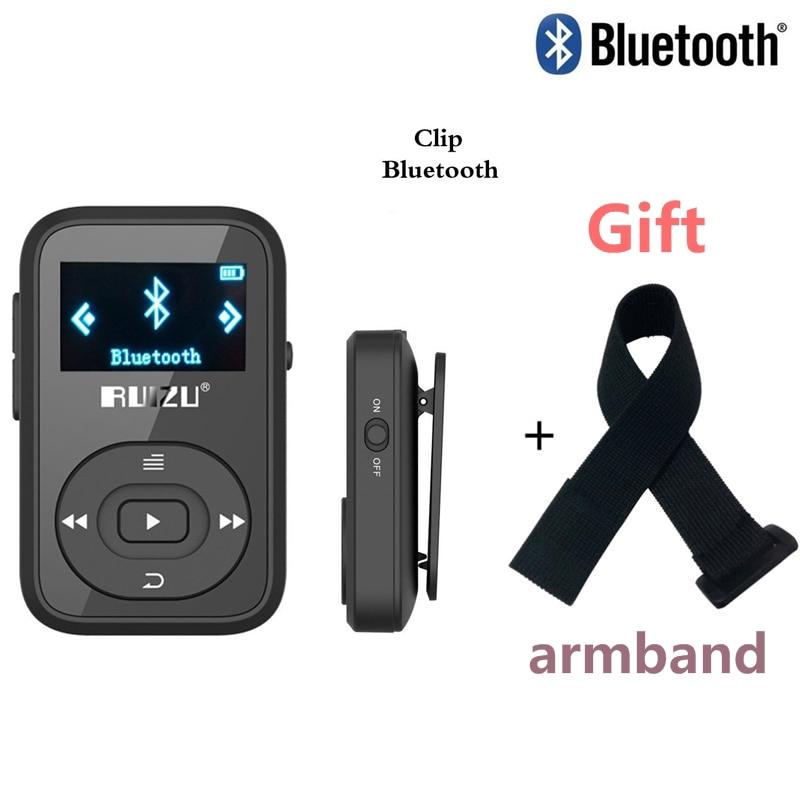 Original RUIZU X26 Clip Bluetooth mp3 player 8GB 1.1 inch Sport Bluetooth mp3 music player Recorder FM Radio Supprot SD Card strength training