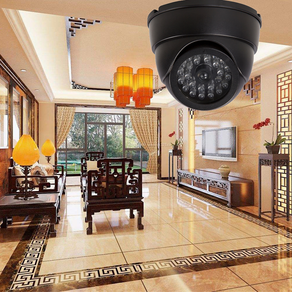 Image 3 - 2pcs Security CCTV Simulation Fake Camera Dome With Flashing LED Light Waterpoof Outdoor Indoor Dummy Camera Surveillance-in Surveillance Cameras from Security & Protection