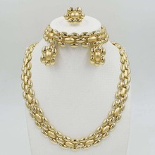 NEW  Fashion jewelry set African  Dubai gold-color African bead jewelry wedding jewelry set african beads jewelry High gradsets