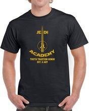 цена на 055 Jedi Academy mens t-shirt funny geek star lightsaber wars nerdy costume new Free shipping  Harajuku Tops Fashion Classic