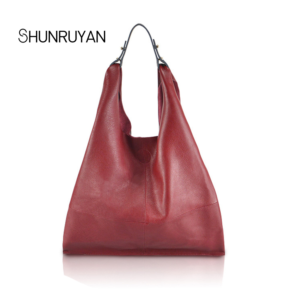 SHUNRUYAN 2018 New Brand Design Shoulder Bag Large Capacity Handbag Shoulder Bag Genuine Leather Fashion Shopping Bag Travel Bag цены