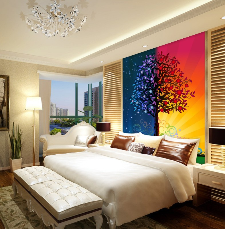 Europe Luxury Style Coast City By Oil Painting Design Wallpaper And Tree Use Bedroom Wall Paper Mural In Wallpapers From Home Improvement On