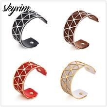 SKYRIM Wide Hollow Cuff Bracelets Bijoux Indian Jewelry Pers