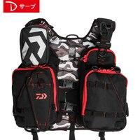 2018 NEW DAIWA Fishing Vest life jacket DAWA Multi function outdoors buoyancy 100 kg DAIWAS sports Man light Free shipping