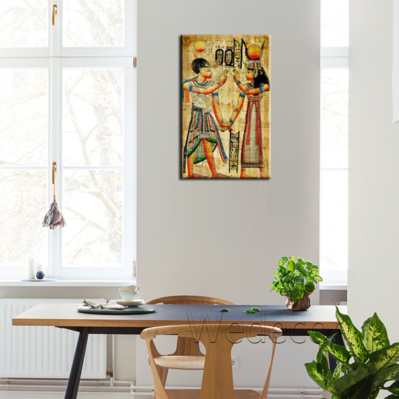 EGYPTIAN ANCIENT PARCHMENT PAPYRUS CANVAS PRINT WALL ART PICTURE PHOTO