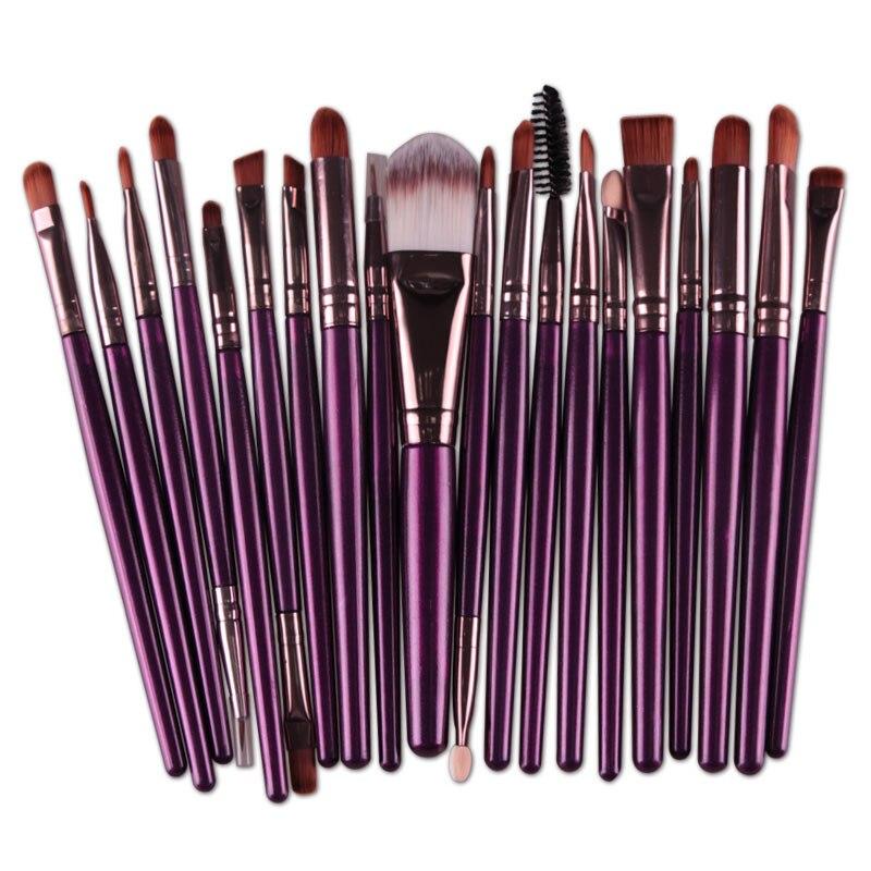 20pcs Eyes Brushes Set Eyeshadow Eyebrow Eyelashes Eyeliner Lip Makeup Brush Sponge Smudge Brush Cosmetic pincel maquiagem (18)