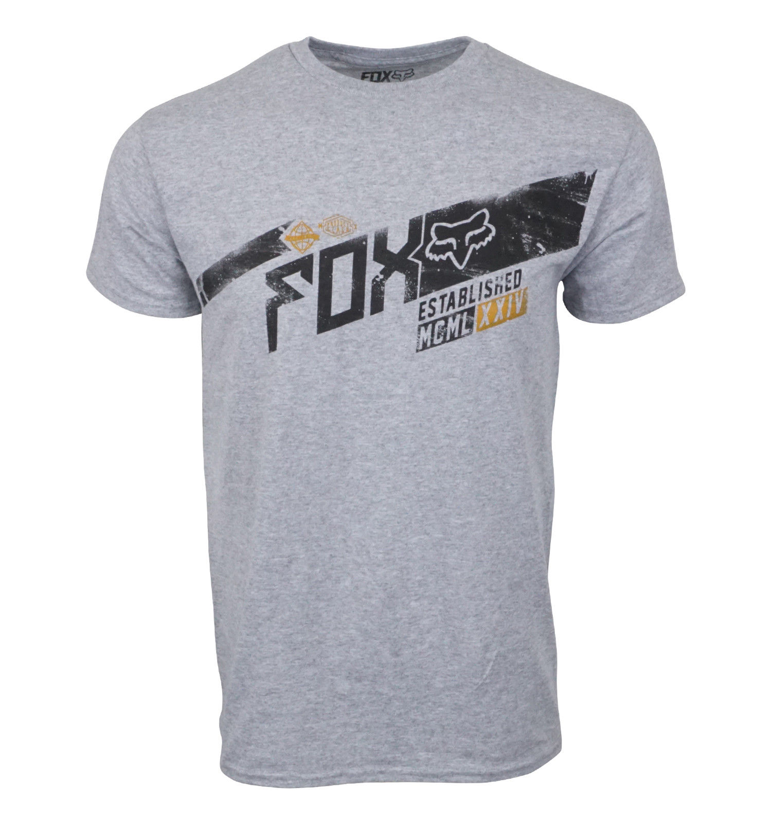 FOX RACING MENS GREY HEATHER   T     SHIRT   Summer Men'S fashion Tee,Comfortable   t     shirt  ,Casual Short Sleeve TEE