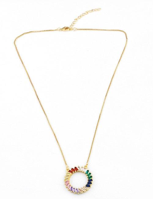 Модное ожерелье с подвеской для глаз для женщин, ожерелье с кристаллами, сексуальные персонализированные чокеры, короткая цепочка на ключицы, ювелирные изделия - Окраска металла: round