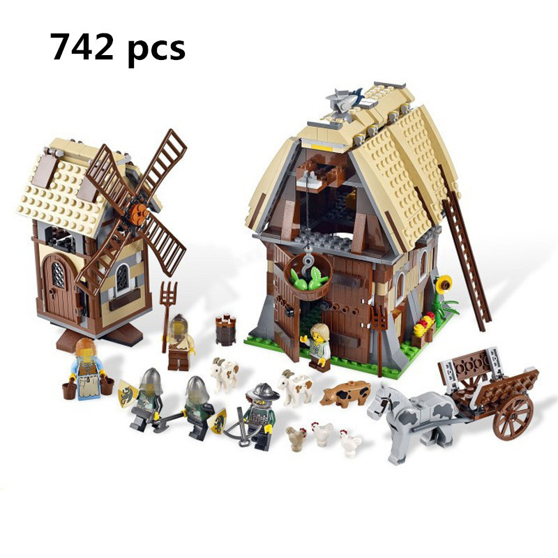 Sale Lepin 16049 Creative Series The Mill Village Raid Set 7189 Building Blocks Bricks Legoing Educational Toys Birthday Gift lepin 36010 genuine creative series the winter village market set legoing 10235 building blocks bricks educational toys as gift