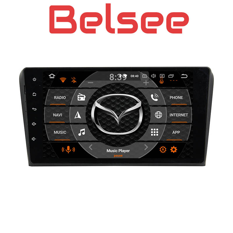 Belsee Android 8.0 Car Stereo Radio GPS Multimedia Auto 9