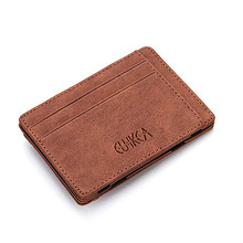 Ultra Thin Mini Wallet Men's Small Wallet Business PU Leather Magic Wallets High Quality Coin Purse Card Holder Pouch for Cards
