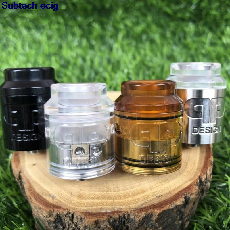 New Arrival QP Design KALI V2 RDA Replaceable Tank Atomizers Top Airflow To Coil Design Postless Deck Pull Up Top Fill Vape Tank