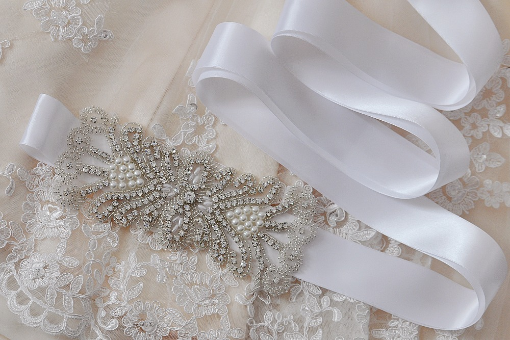 Trixy B102 Rhinestones Beaded Thin Wedding Belts Wedding Sashes Handmade Crystal Rhinestone Bridal Belts Bridal Sashes Moderate Price Weddings & Events Bridal Blets