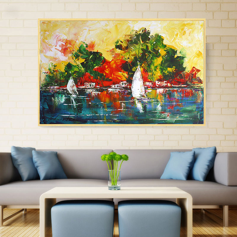 Modern Pineapple Canvas Oil Painting Picture Background Wall Decor Poster S