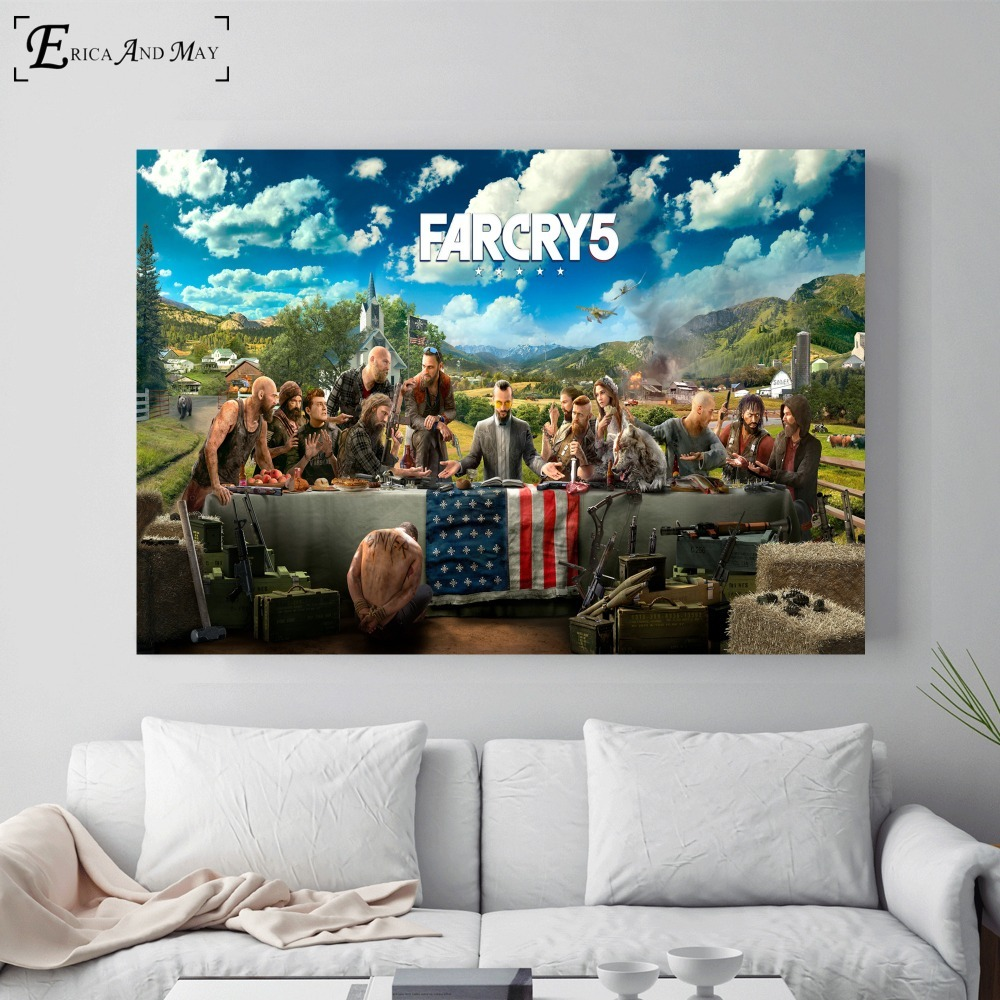 Far Cry 5 HD Video Game Posters and Prints Wall art Decorative Picture Canvas Painting For Living Room Home Decor Unframed image