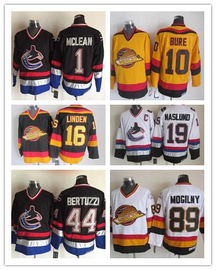 ab5ad7857 ... CCM Mens Kirk Mclean Black Jersey - NHL 1 Vancouver Canucks Vintage  Throwback patrick kane coloring page ...