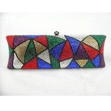 7735TB Crystal Lady fashion Bridal Night Metal Evening purse clutch bag box handbag case